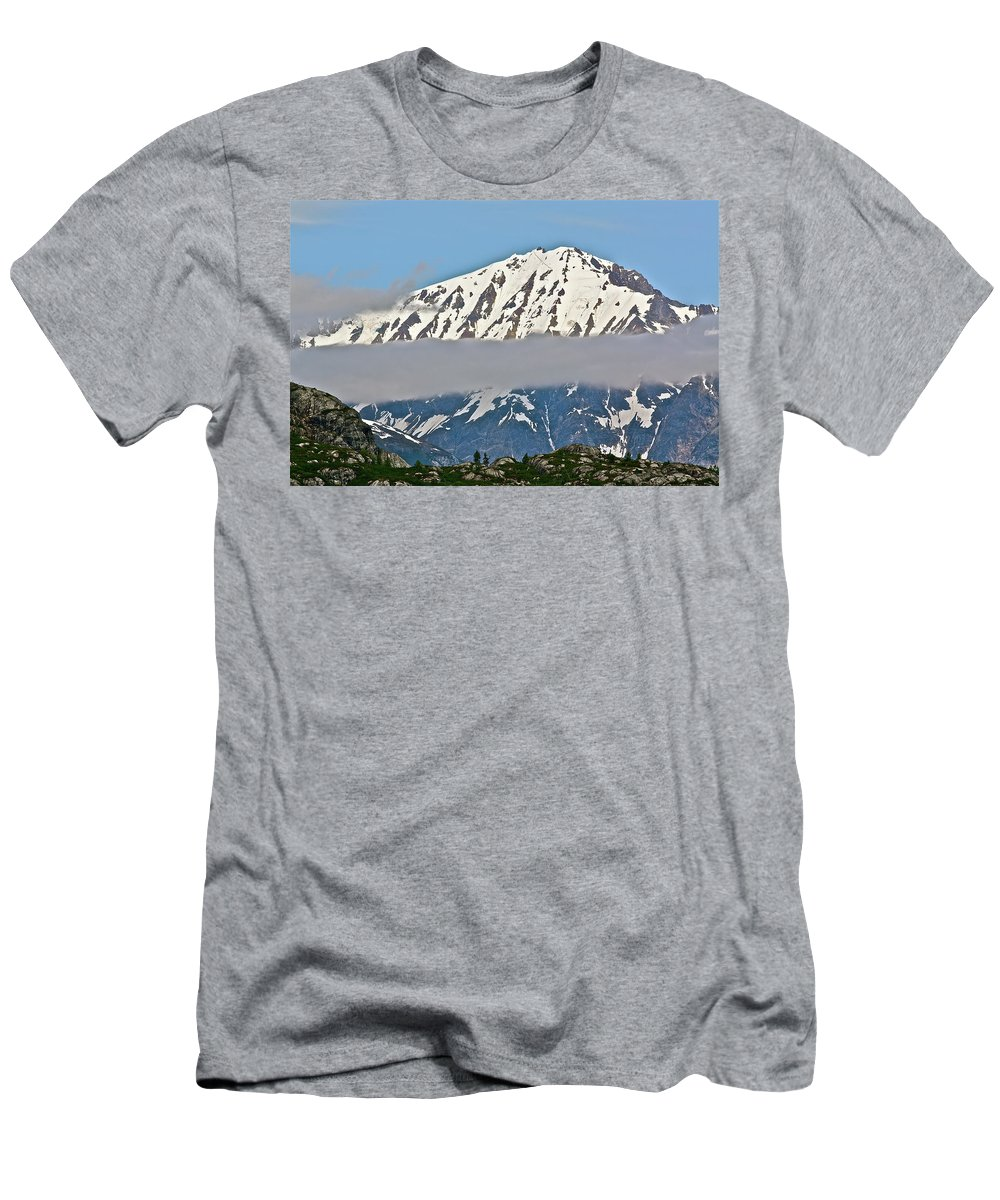 Cloud Men's T-Shirt (Athletic Fit) featuring the photograph Ribbon Of Fog by Diana Hatcher