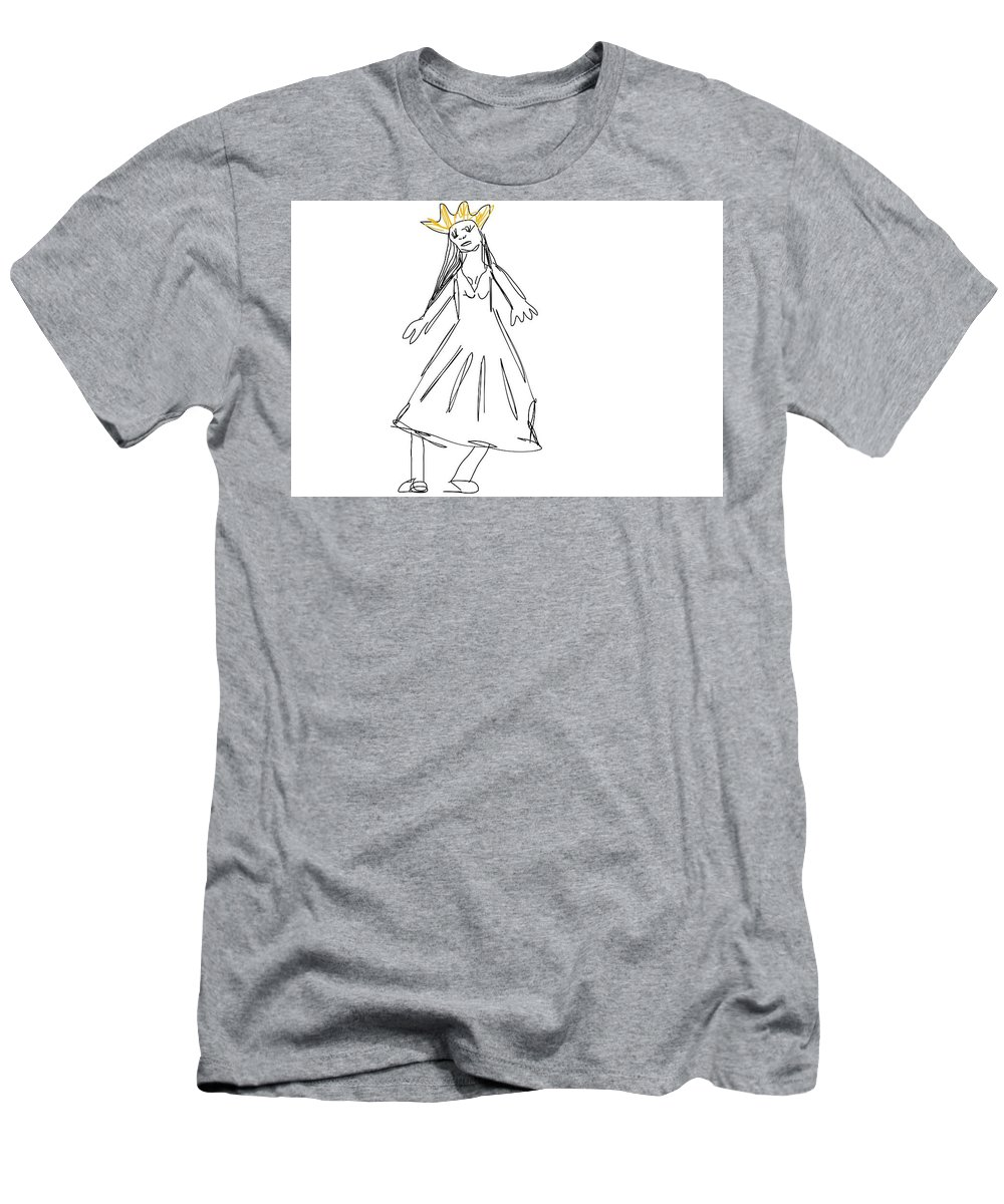Men's T-Shirt (Athletic Fit) featuring the drawing Rich by Rachel