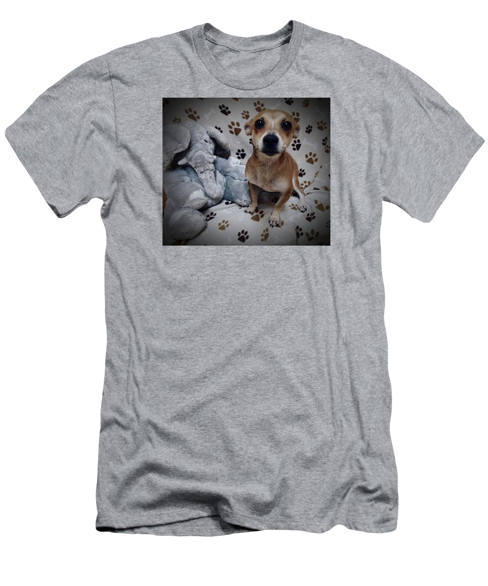 Dogs Men's T-Shirt (Athletic Fit) featuring the photograph Rico by Brandi Tye