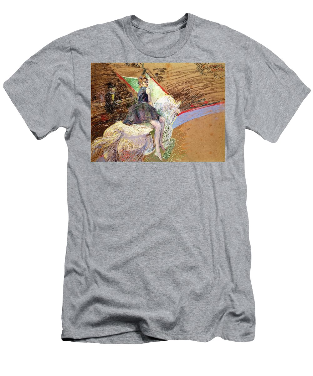 The Men's T-Shirt (Athletic Fit) featuring the pastel Rider On A White Horse by Henri de Toulouse Lautrec