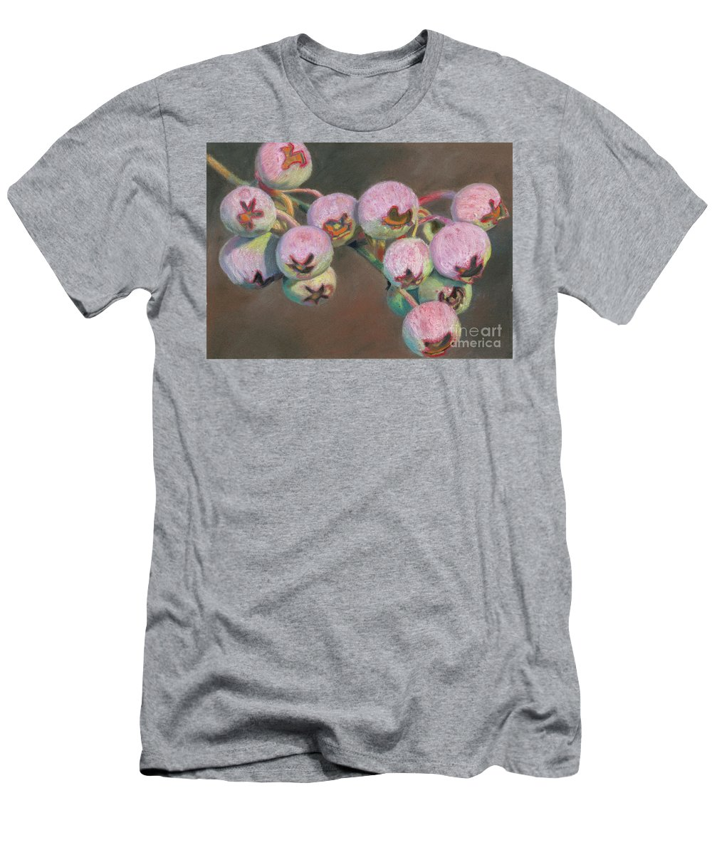 Blueberry Men's T-Shirt (Athletic Fit) featuring the pastel Ripening Blueberries by Matthew Toczko