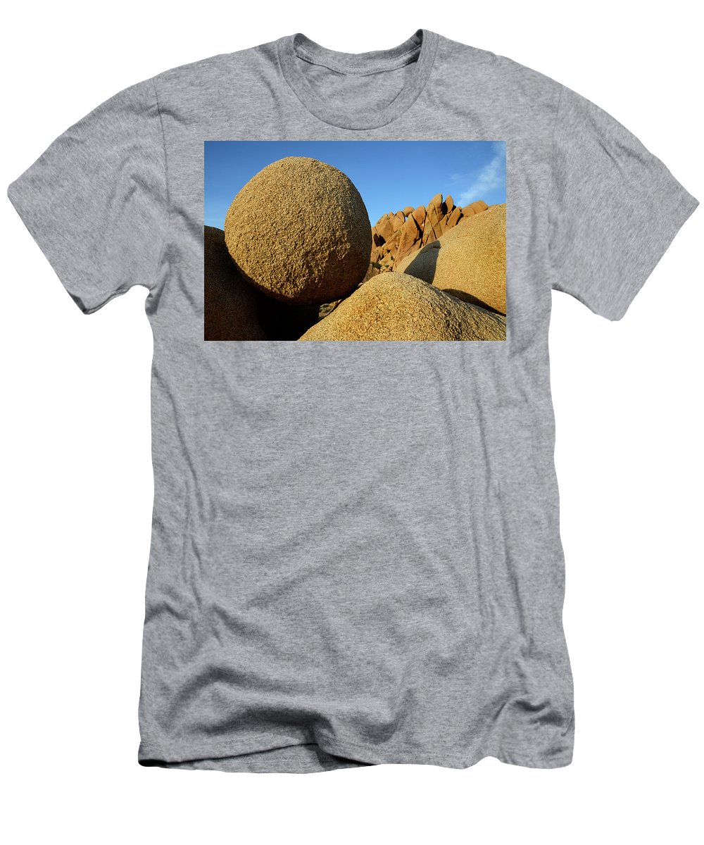 Joshua Tree National Park Men's T-Shirt (Athletic Fit) featuring the photograph Rock And Roll by Bob Christopher