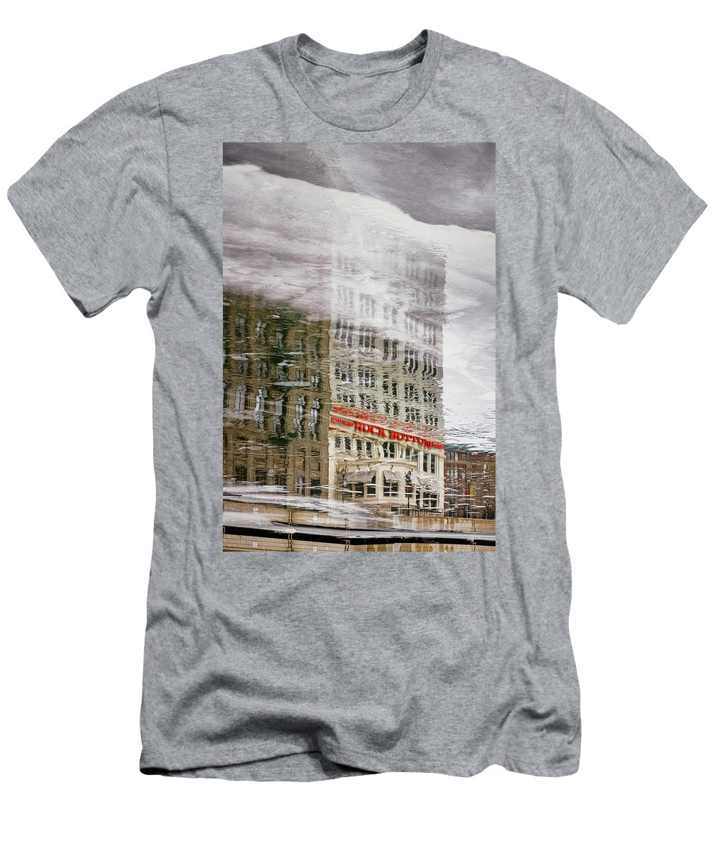 Ice Men's T-Shirt (Athletic Fit) featuring the photograph Rock Bottom by Scott Norris