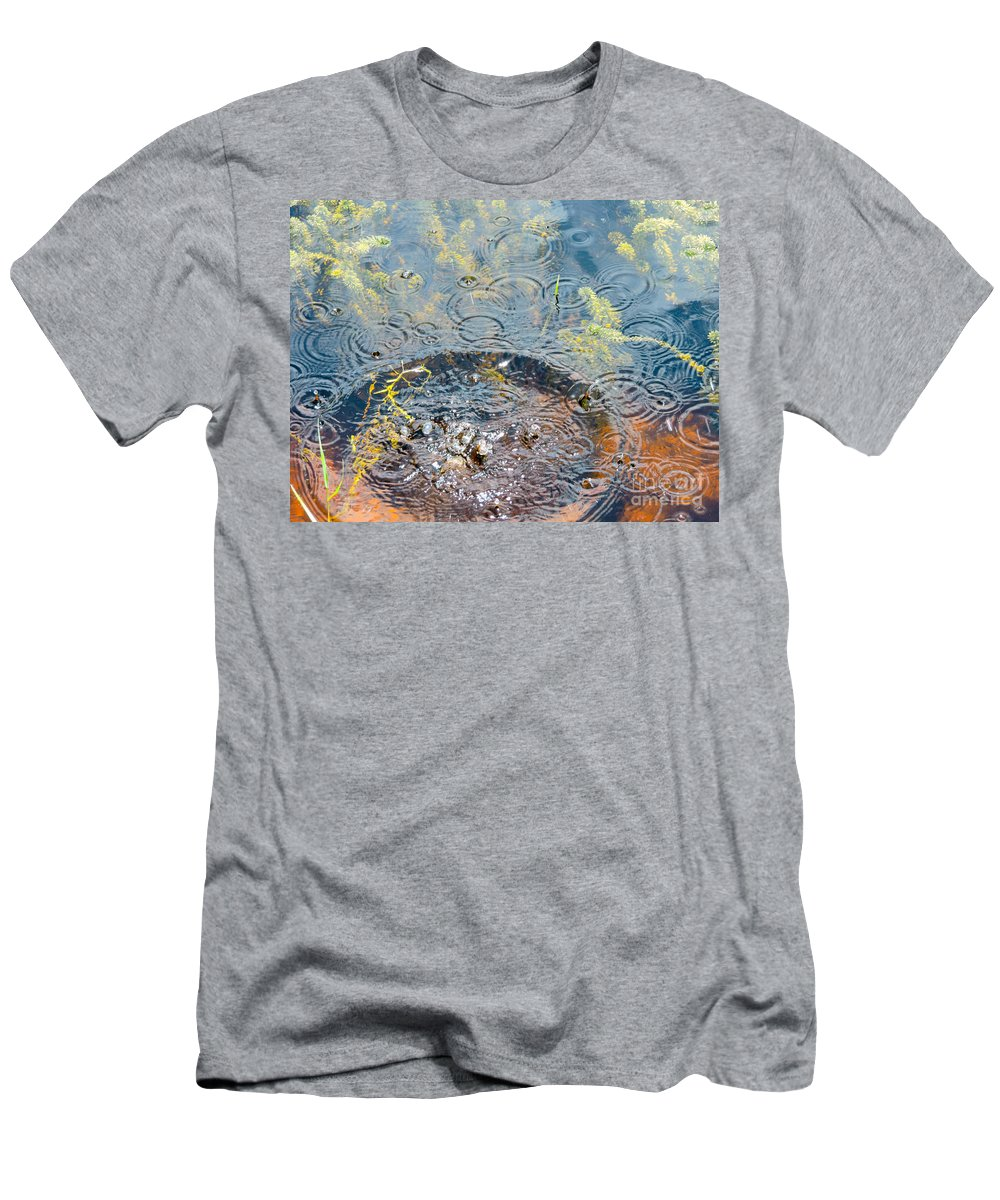 Splash Men's T-Shirt (Athletic Fit) featuring the photograph Rocks And Ripples by Marilee Noland