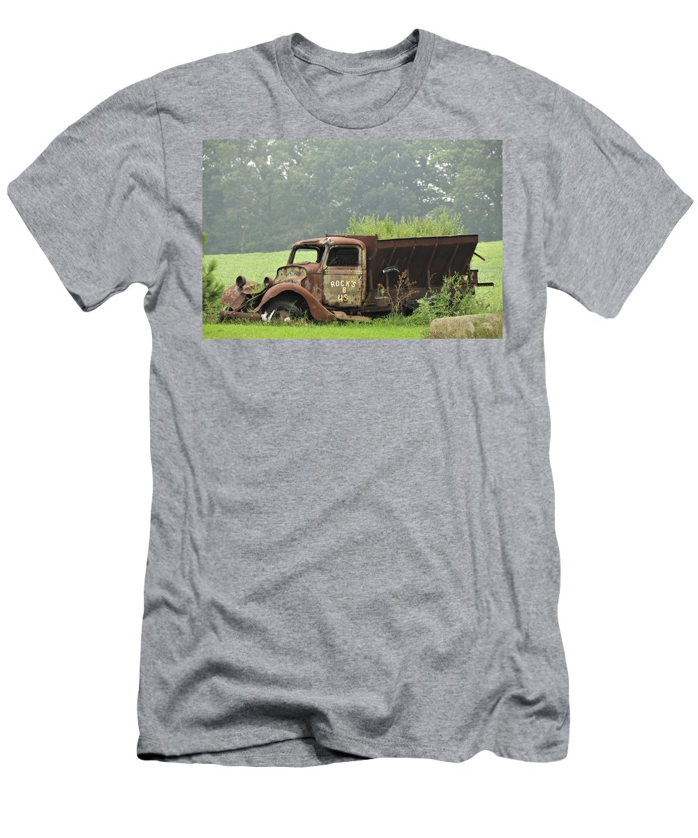 Truck Men's T-Shirt (Athletic Fit) featuring the photograph Rocks B Us 1 by David Arment