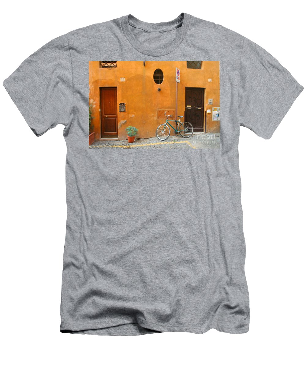 Rome Men's T-Shirt (Athletic Fit) featuring the photograph Roman Doors by Thomas Marchessault