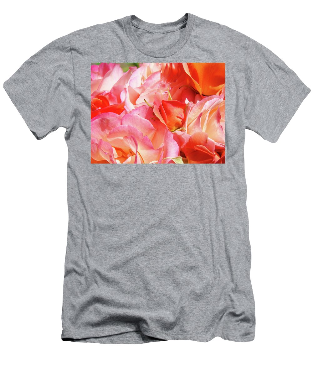Rose T-Shirt featuring the photograph Rose Bouquet Floral art prints Garden Roses Baslee Troutman by Patti Baslee
