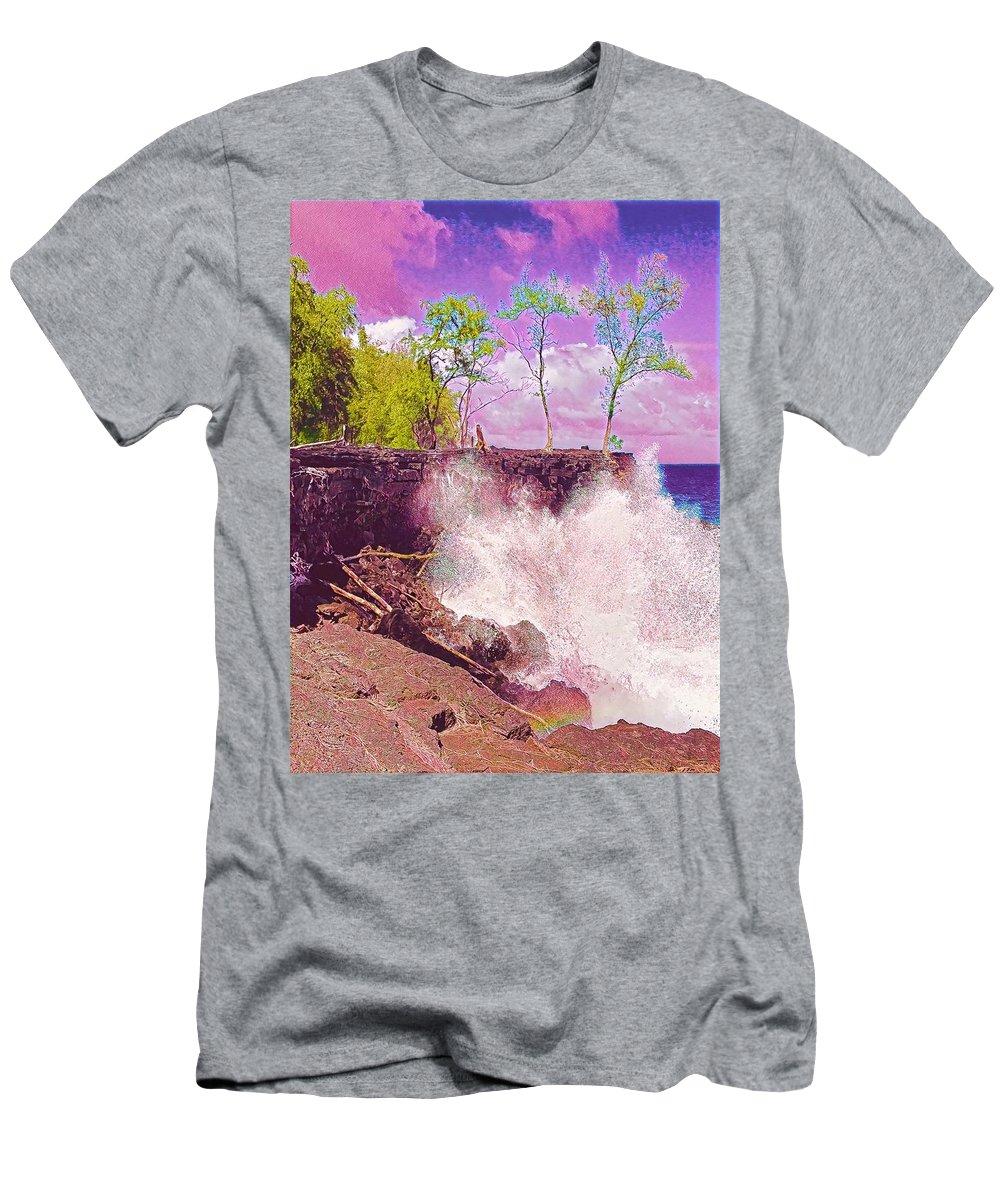 #flowersofaloha #flowers # Flowerpower #aloha #hawaii #aloha #puna #pahoa #thebigisland #splash #mackenzie #rosecolored Men's T-Shirt (Athletic Fit) featuring the photograph Rose Colored Splash At Mackenzie by Joalene Young