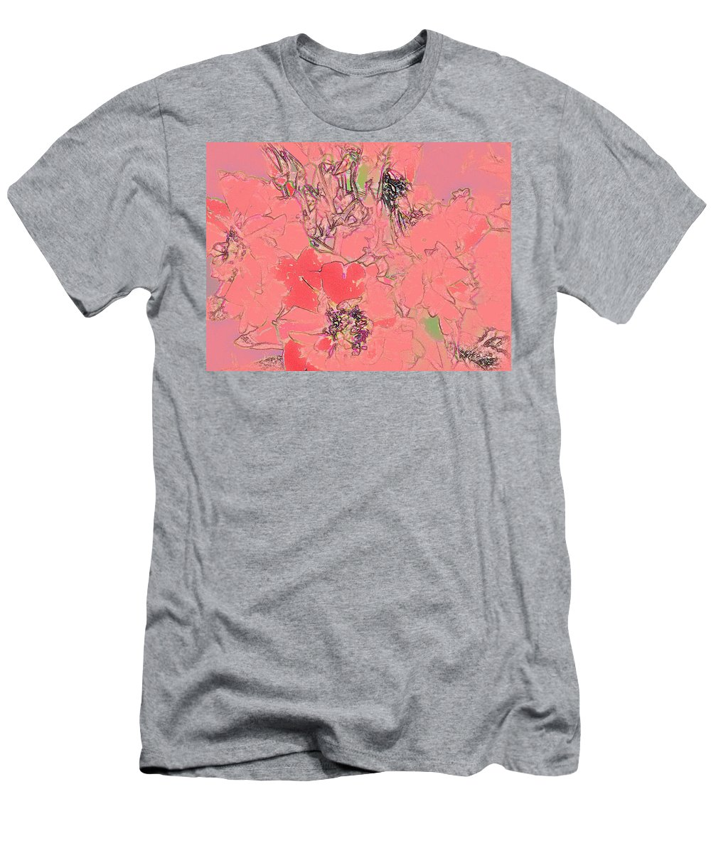 Rose Men's T-Shirt (Athletic Fit) featuring the digital art Rose Diffused by Ian MacDonald