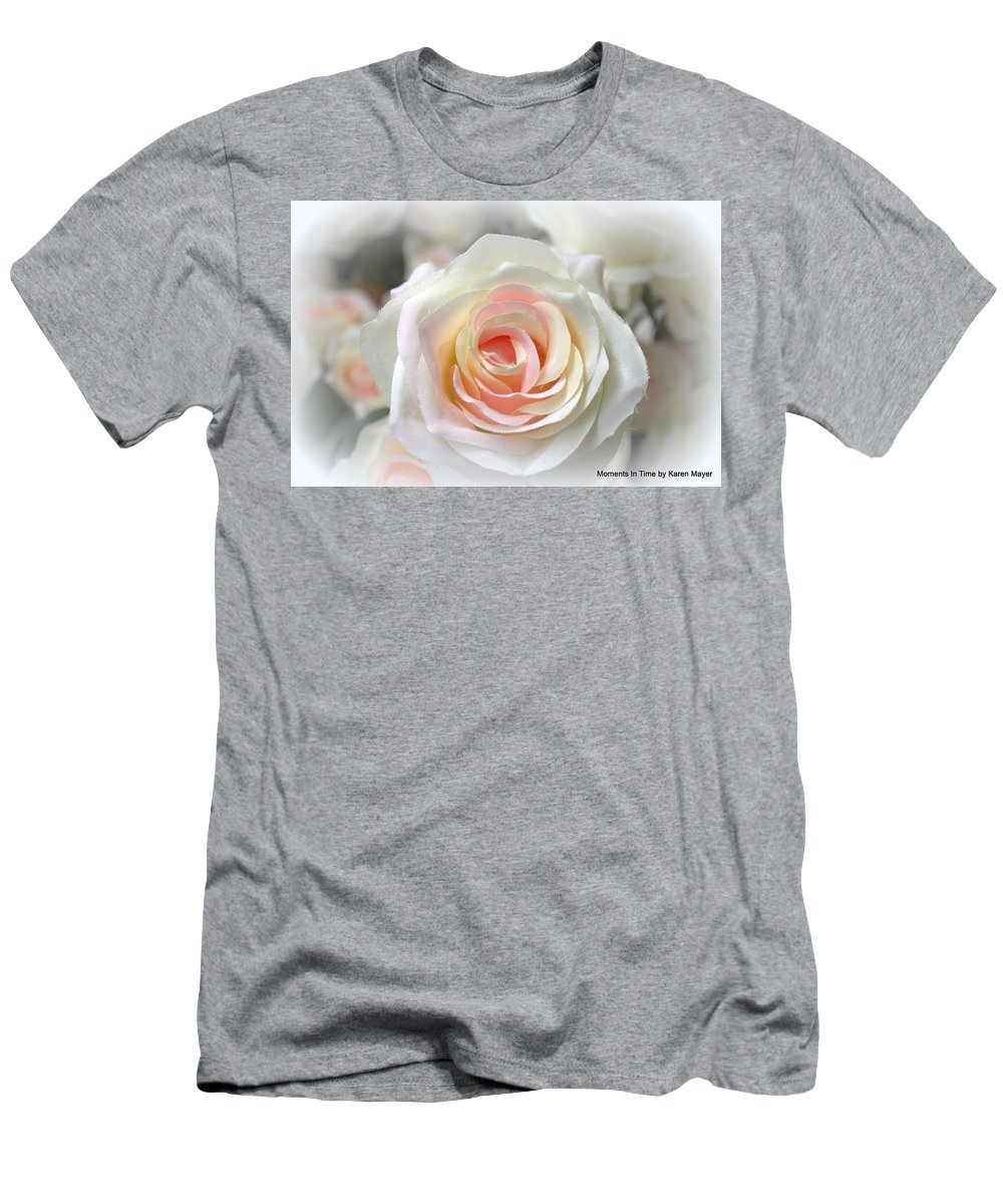 Men's T-Shirt (Athletic Fit) featuring the photograph Rose by Karen Mayer