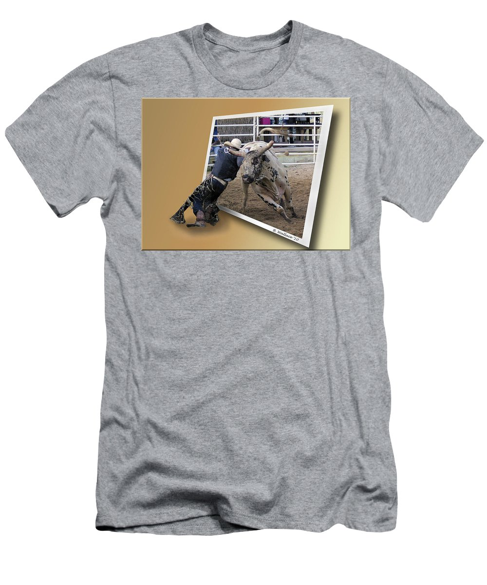 2d Men's T-Shirt (Athletic Fit) featuring the photograph Rough Ride by Brian Wallace