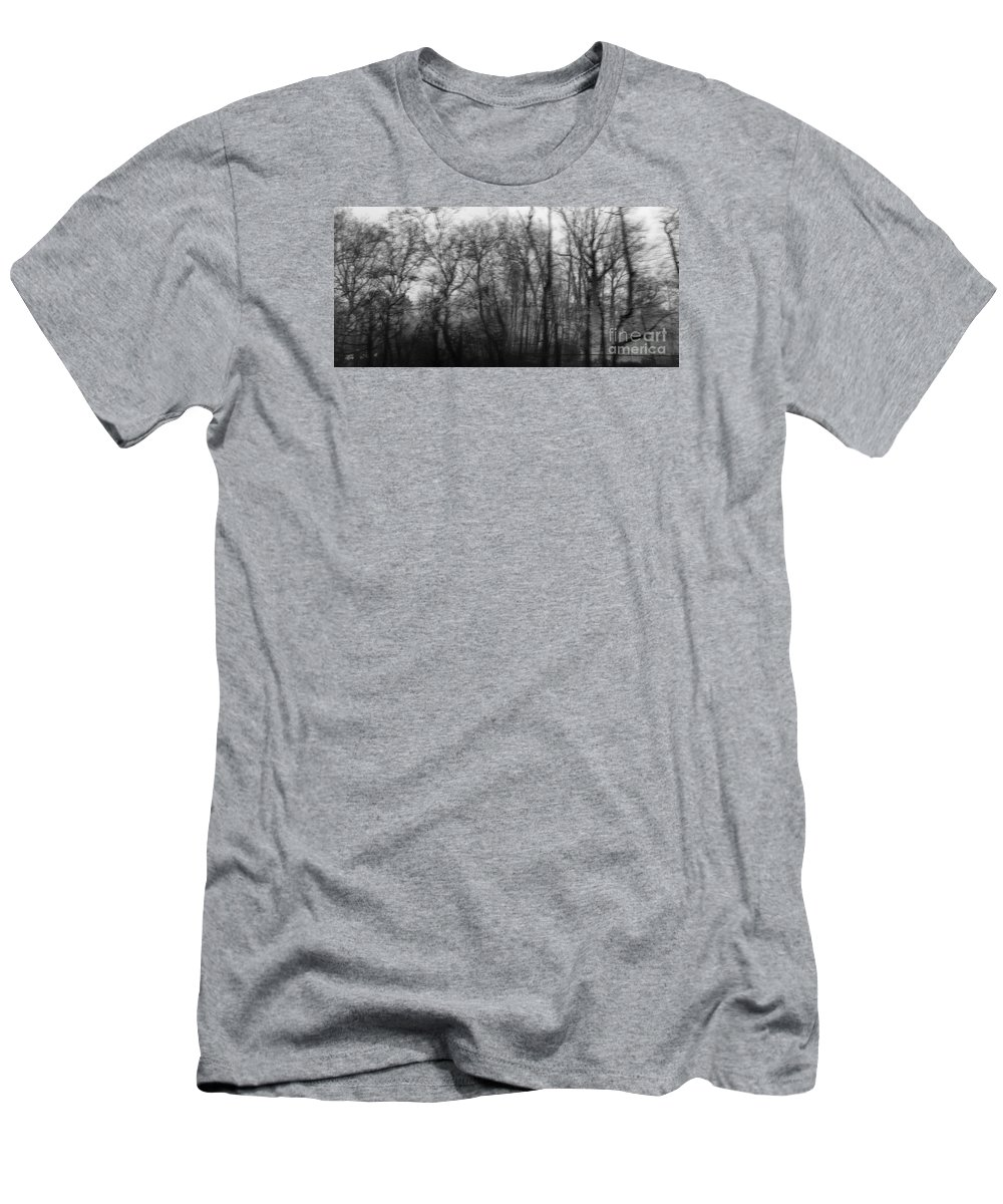 Trees Men's T-Shirt (Athletic Fit) featuring the photograph Round Trip Lyrics by Angelo Merluccio