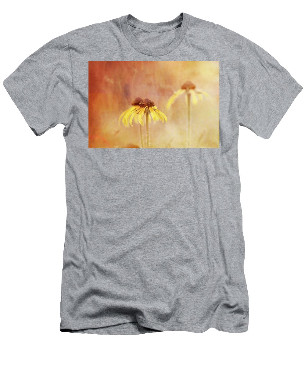 Rudbeckia Men's T-Shirt (Athletic Fit) featuring the photograph Rudbeckia Daydream by Susan Capuano