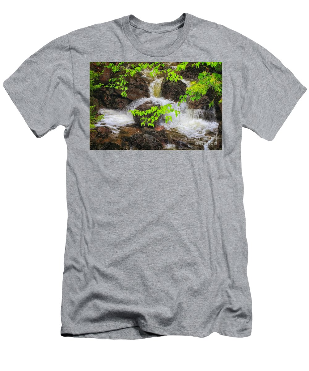 Baxter State Park Men's T-Shirt (Athletic Fit) featuring the photograph Rugged Landscape by Elizabeth Dow