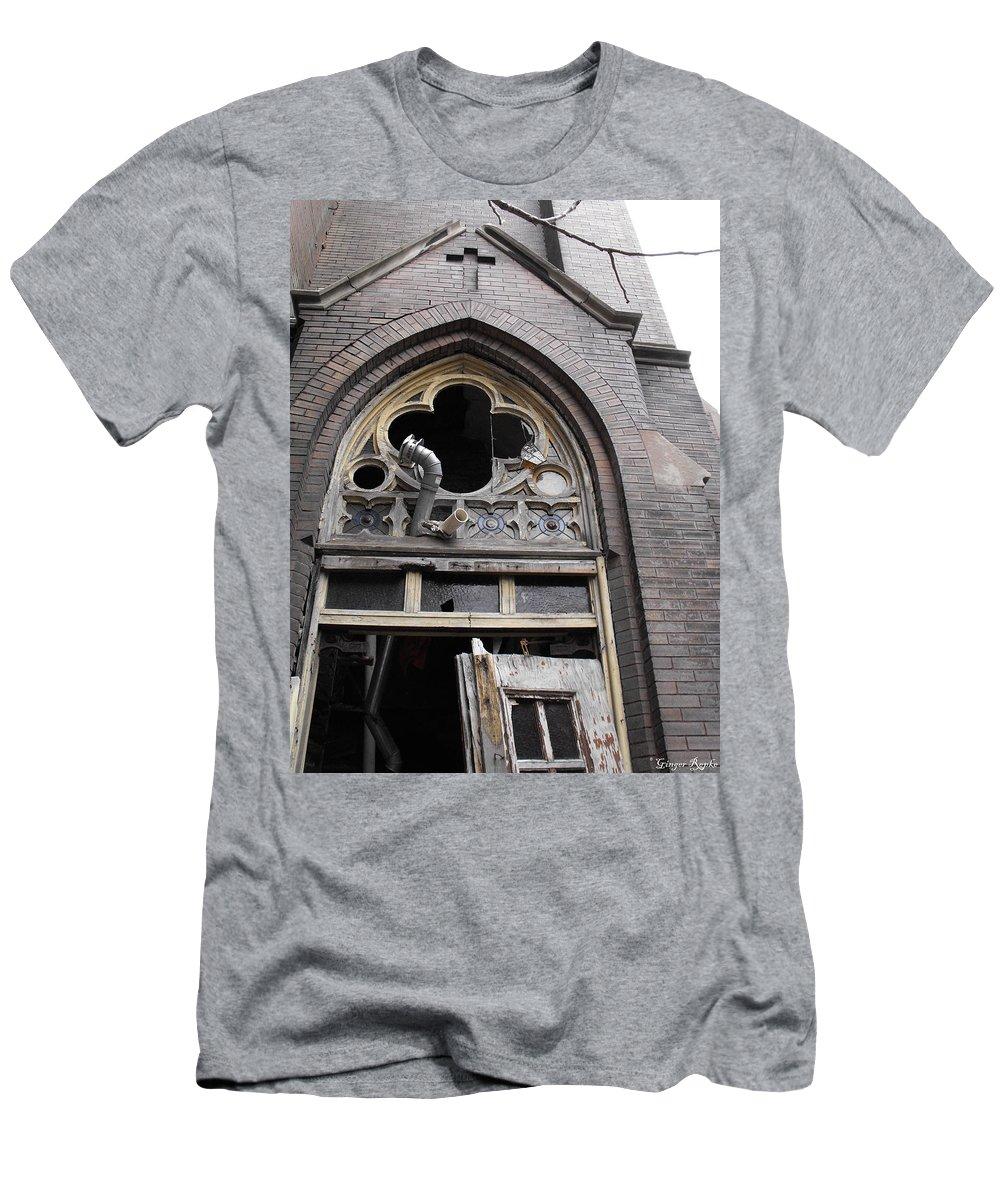 3114 Lismore Men's T-Shirt (Athletic Fit) featuring the photograph Ruin Courtyard Entrance by Ginger Repke