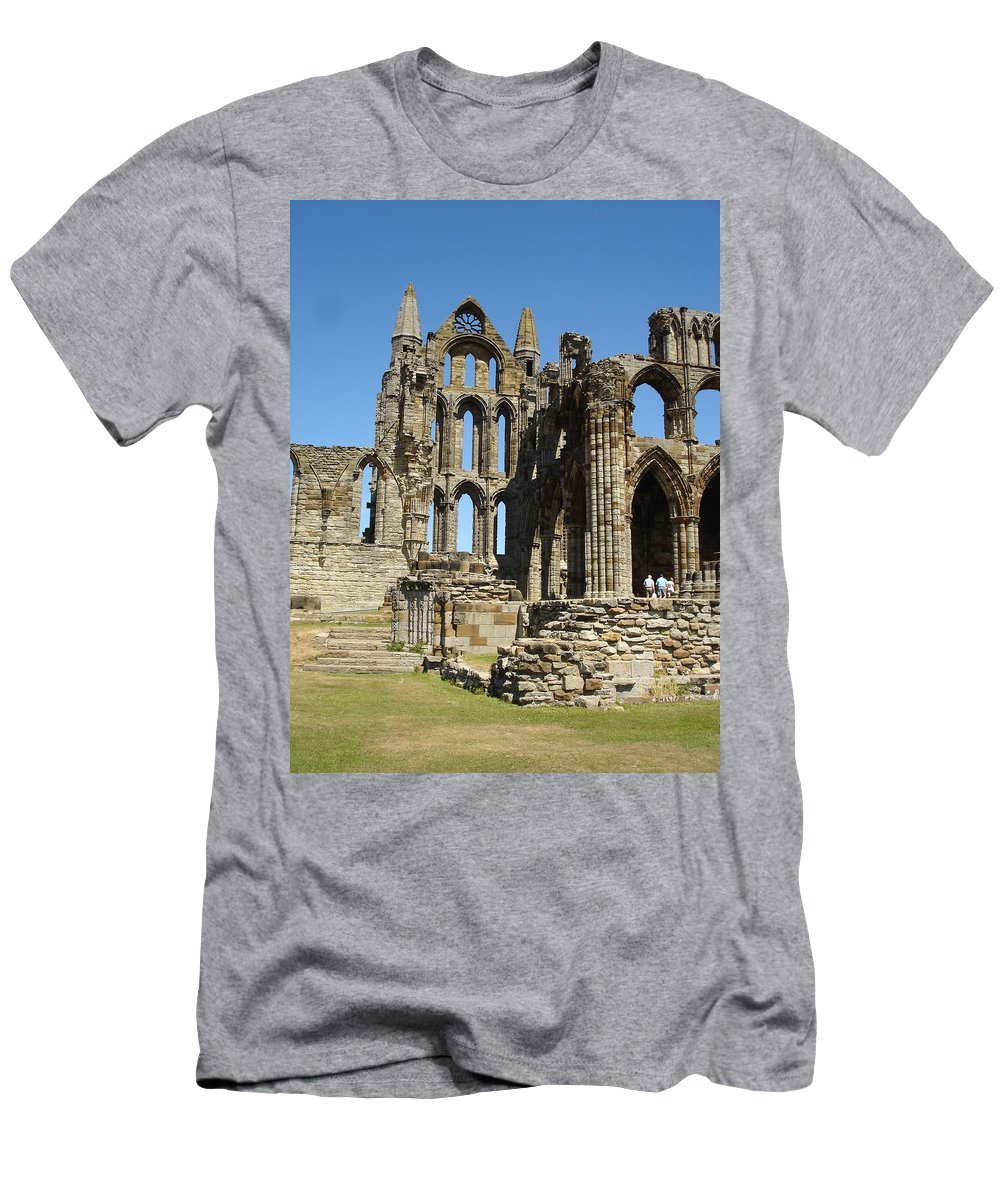 Whitby Men's T-Shirt (Athletic Fit) featuring the photograph Ruins Of Whitby Abbey by Susan Baker