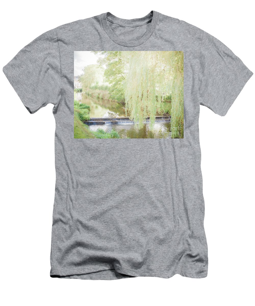 Rural Men's T-Shirt (Athletic Fit) featuring the photograph Rural Stream. by Waite