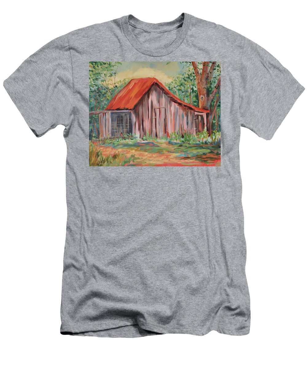 Chicken Coops Men's T-Shirt (Athletic Fit) featuring the painting Russel Crow by Ginger Concepcion