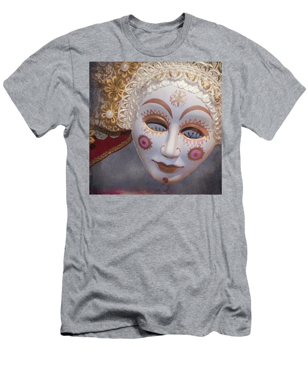 Men's T-Shirt (Athletic Fit) featuring the digital art Russian Mask 4 by Jeff Burgess