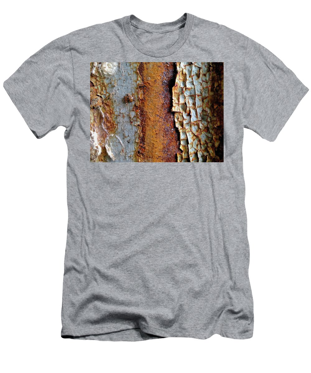 Rust Men's T-Shirt (Athletic Fit) featuring the digital art Rust And Ladybug by Dan Reich