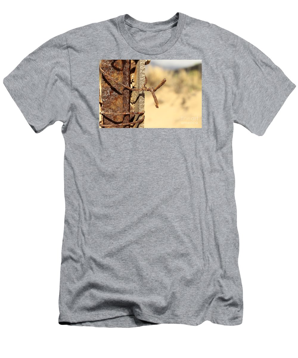 Rusty Men's T-Shirt (Athletic Fit) featuring the photograph Rusty by Byron Fair