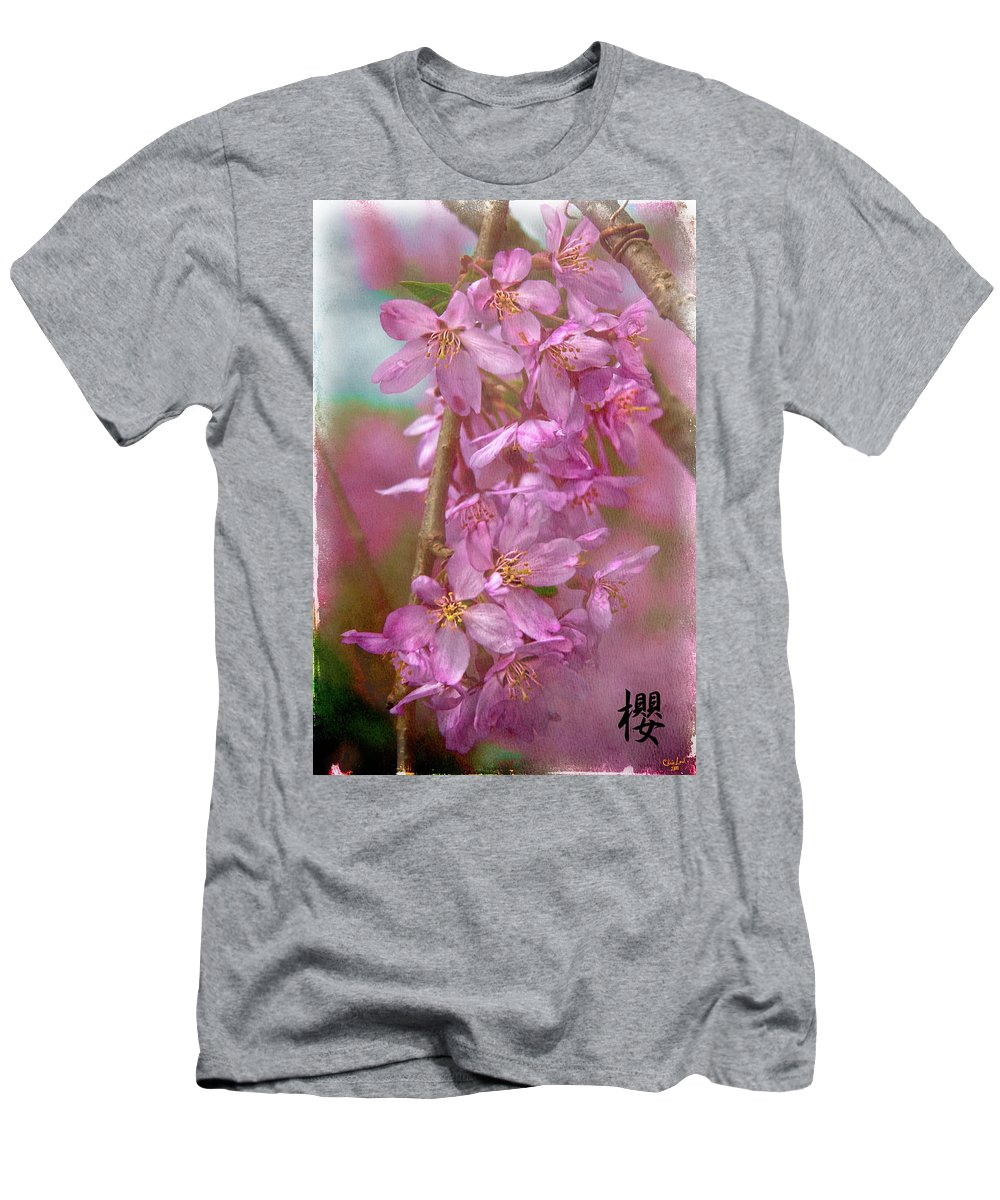 Cherry Men's T-Shirt (Athletic Fit) featuring the photograph S A K U R A by Chris Lord