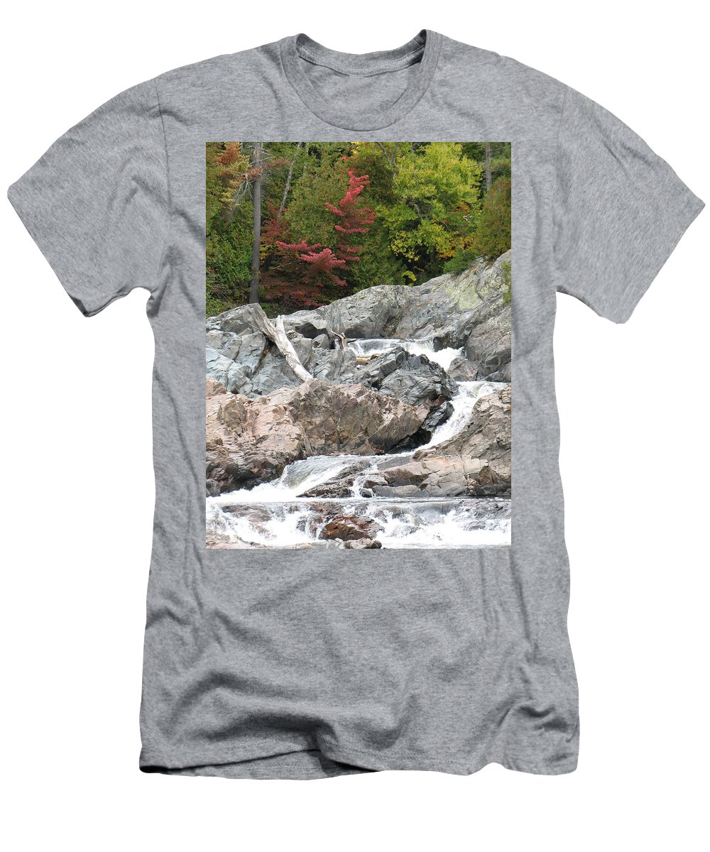 River Men's T-Shirt (Athletic Fit) featuring the photograph S Curve by Kelly Mezzapelle