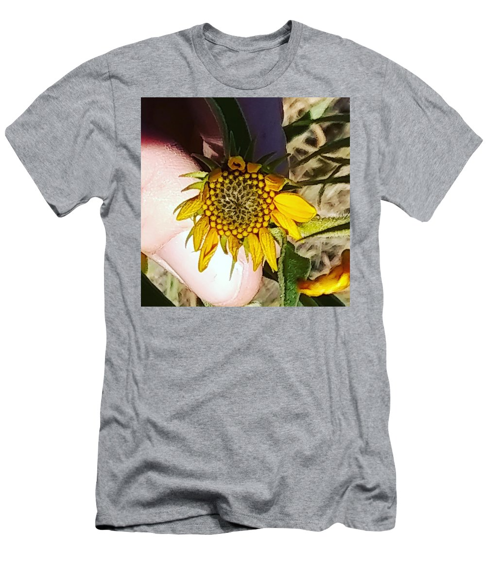 Men's T-Shirt (Athletic Fit) featuring the photograph Sacred Sunflower by Jeff Grossman