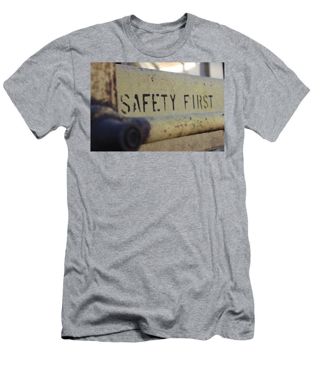 Safety Men's T-Shirt (Athletic Fit) featuring the photograph Safety First by Wade Milne