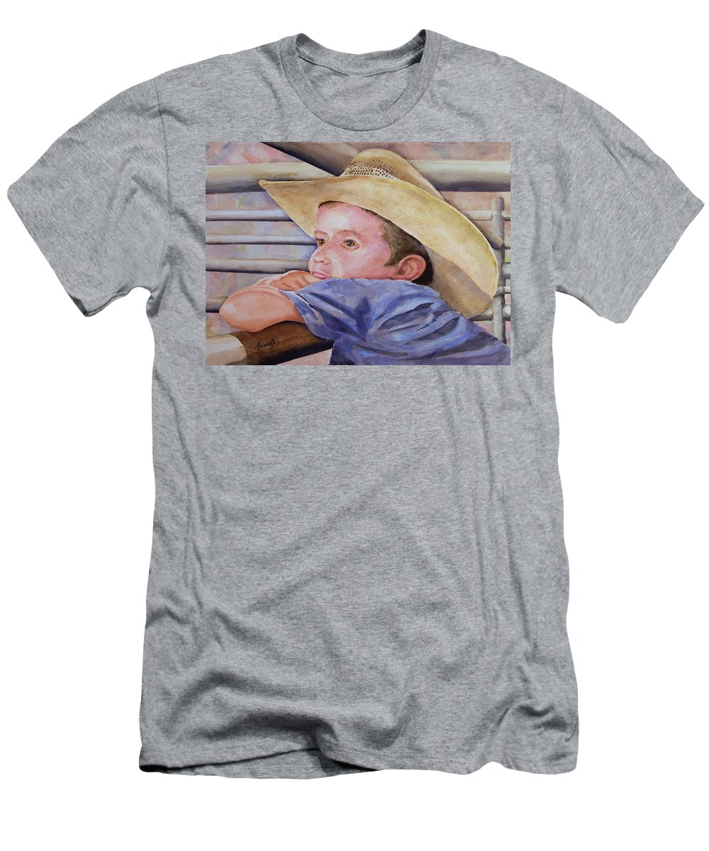 Sale Men's T-Shirt (Athletic Fit) featuring the painting Sale Day by Sam Sidders