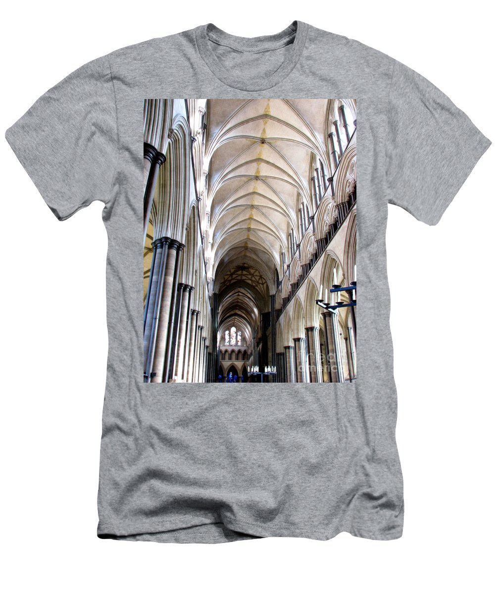 Salisbury T-Shirt featuring the photograph Salisbury Cathedral by Amanda Barcon