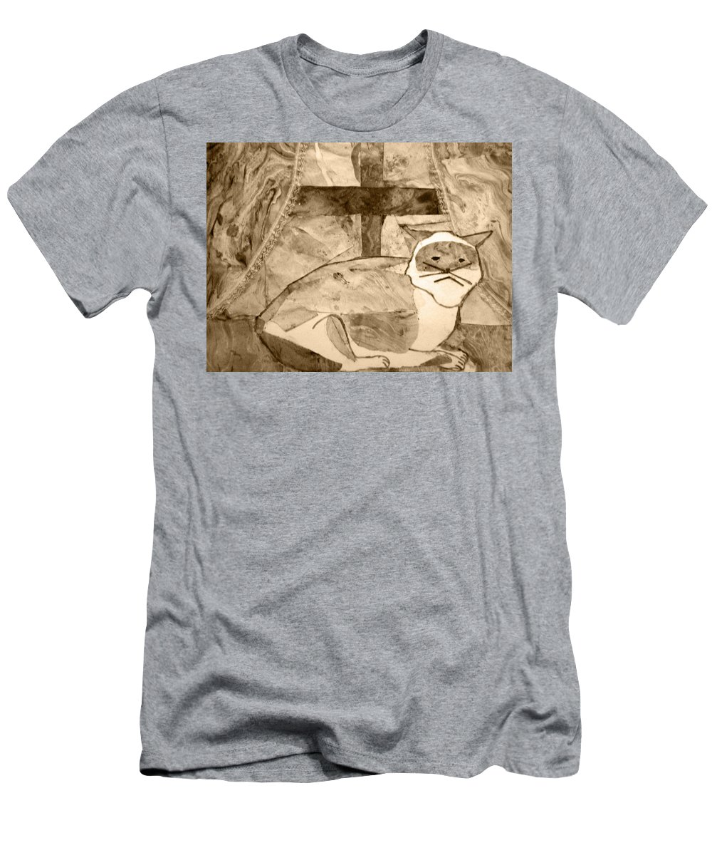 Abstract Men's T-Shirt (Athletic Fit) featuring the mixed media Samantha by April Patterson