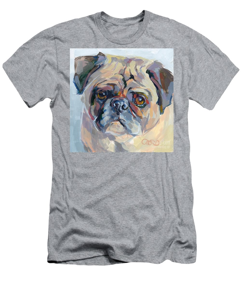 Pug Men's T-Shirt (Athletic Fit) featuring the painting Sammy Sumner by Kimberly Santini