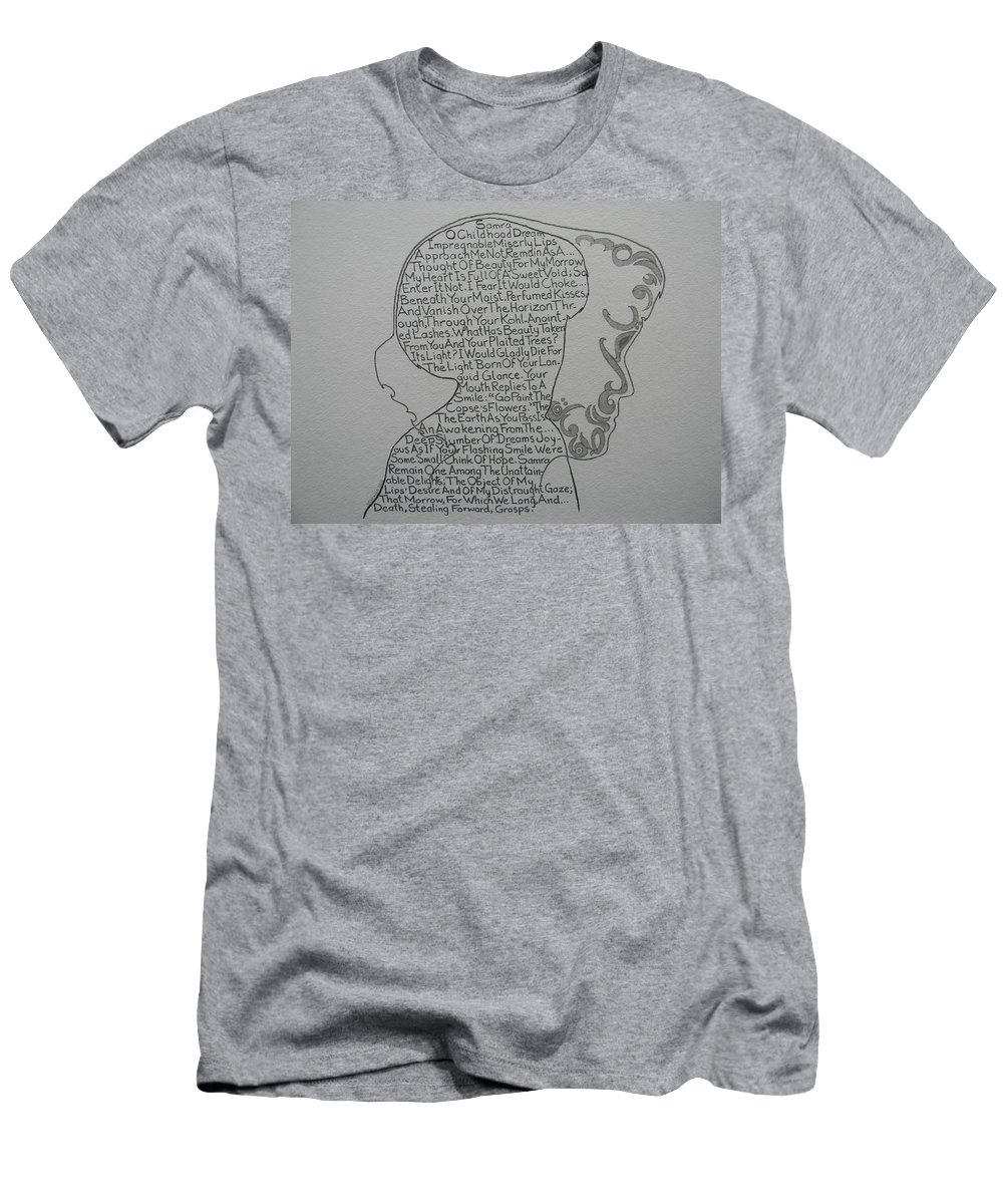 Marwan George Khoury Men's T-Shirt (Athletic Fit) featuring the drawing Samra by Marwan George Khoury