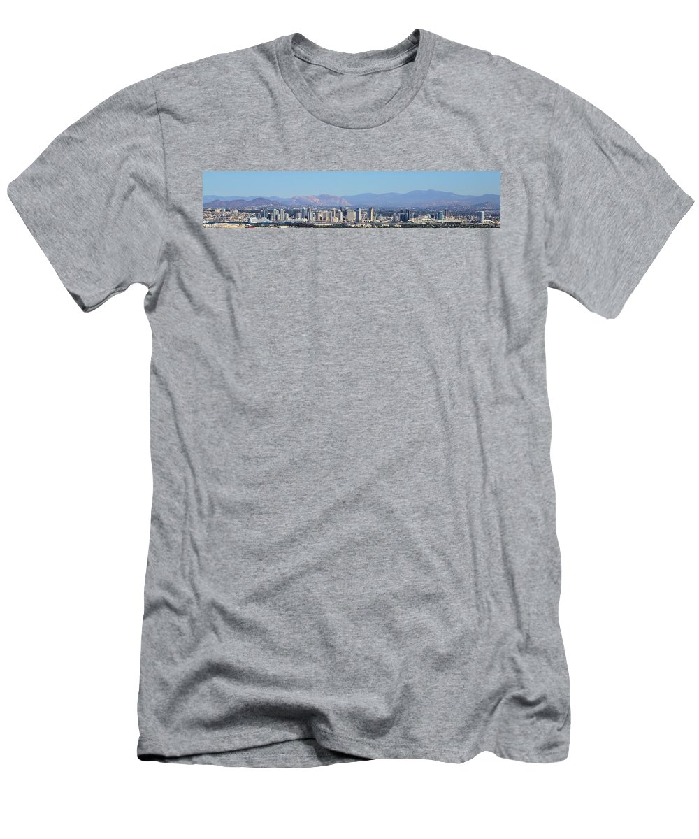 Photosbymch Men's T-Shirt (Athletic Fit) featuring the photograph San Diego Pano by M C Hood