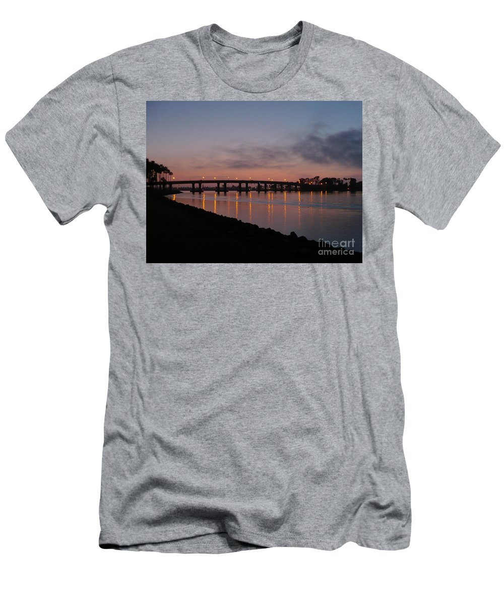 San Diego Men's T-Shirt (Athletic Fit) featuring the photograph San Diego Sunset 1 by Carol Groenen
