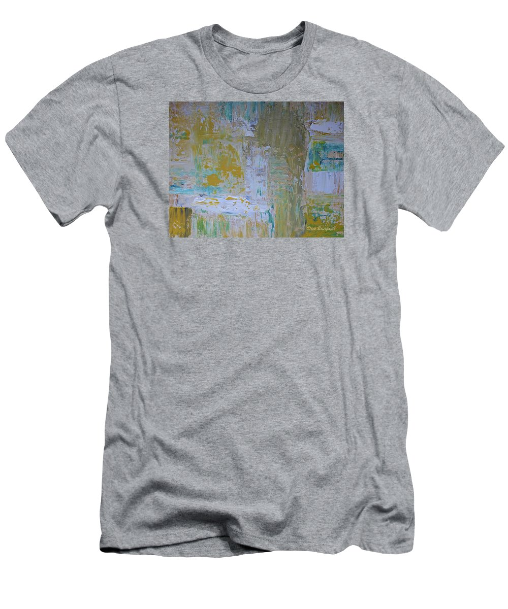 Abstract Men's T-Shirt (Athletic Fit) featuring the painting Sanctuary by Dick Bourgault