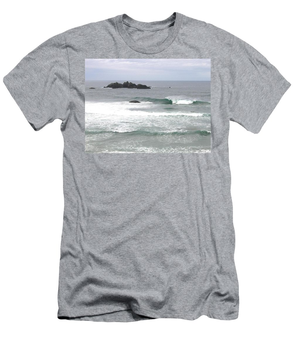 Sand And Sea Men's T-Shirt (Athletic Fit) featuring the photograph Sand And Sea 9 by Will Borden