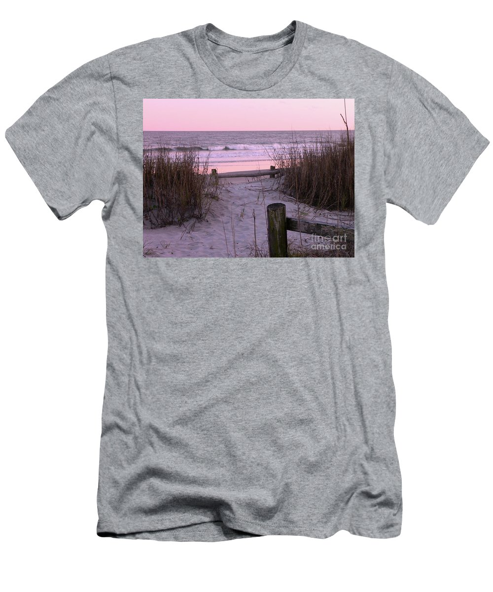Beach Men's T-Shirt (Athletic Fit) featuring the photograph Sand And Sea by Al Powell Photography USA