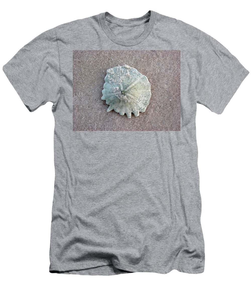 Port Gentil Men's T-Shirt (Athletic Fit) featuring the photograph Sand Dollar by Brett Winn