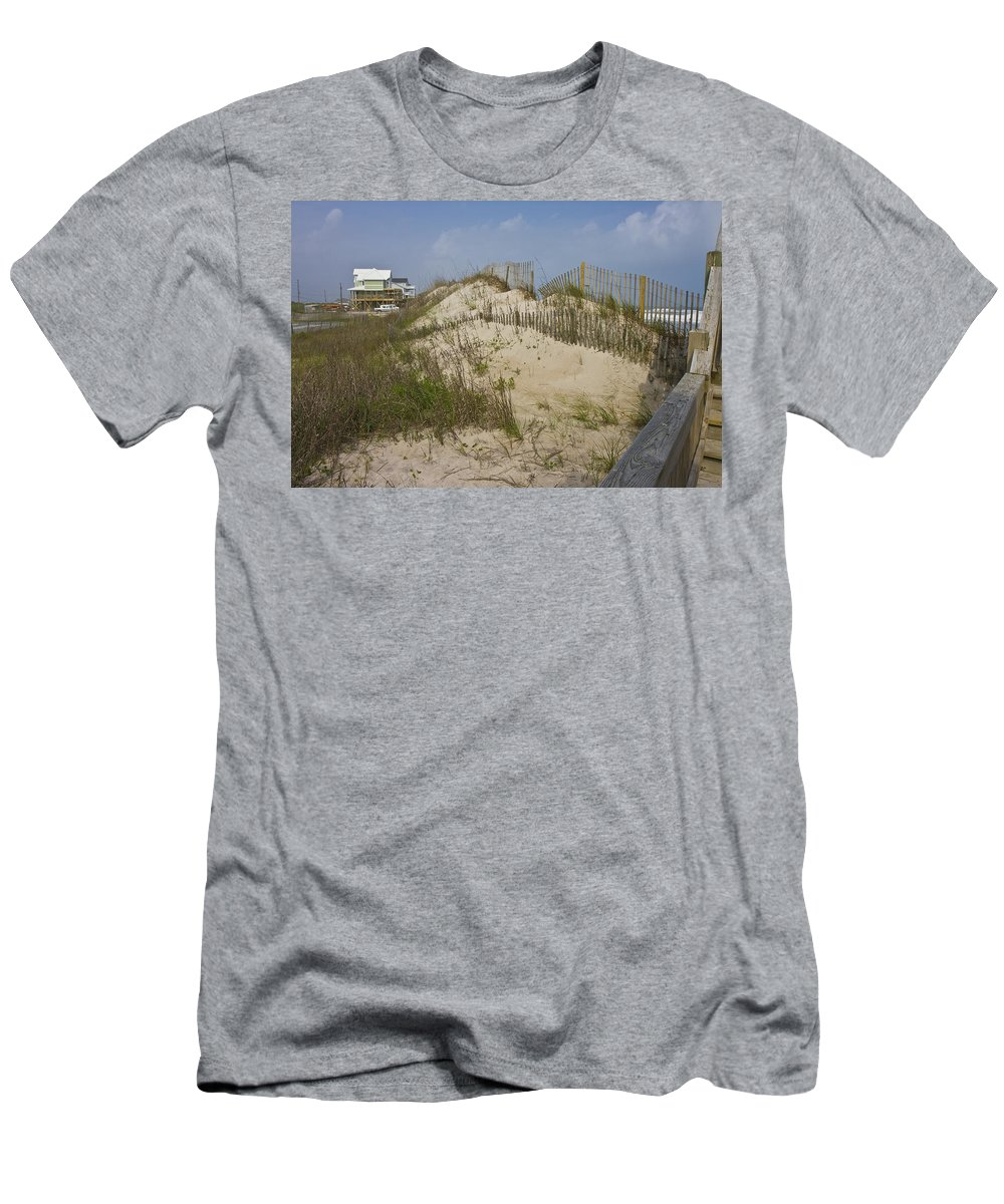 Topsail Men's T-Shirt (Athletic Fit) featuring the photograph Sand Dunes II by Betsy Knapp