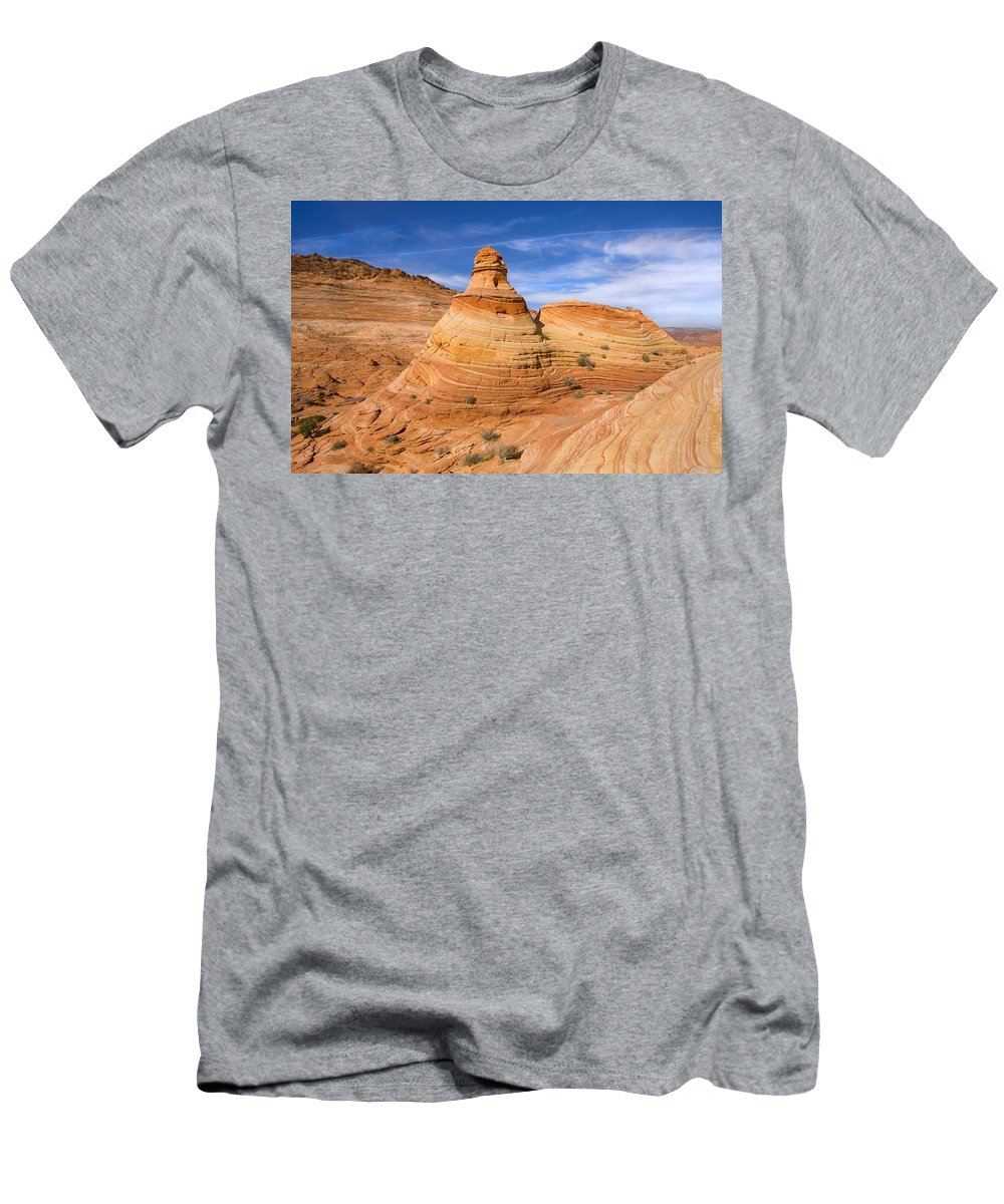 Tent Men's T-Shirt (Athletic Fit) featuring the photograph Sandstone Tent Rock by Mike Dawson