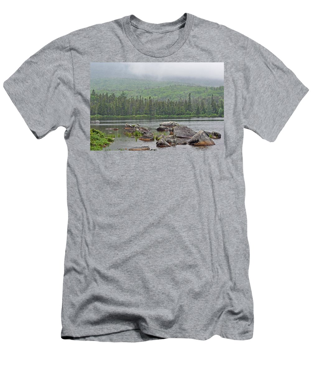 Sandy Stream Pond Men's T-Shirt (Athletic Fit) featuring the photograph Sandy Stream Pond by Glenn Gordon