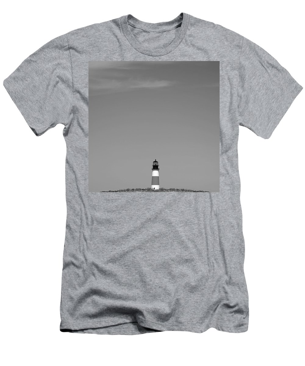 Sankaty Men's T-Shirt (Athletic Fit) featuring the photograph Sankaty Head Lighthouse Nantucket by Charles Harden