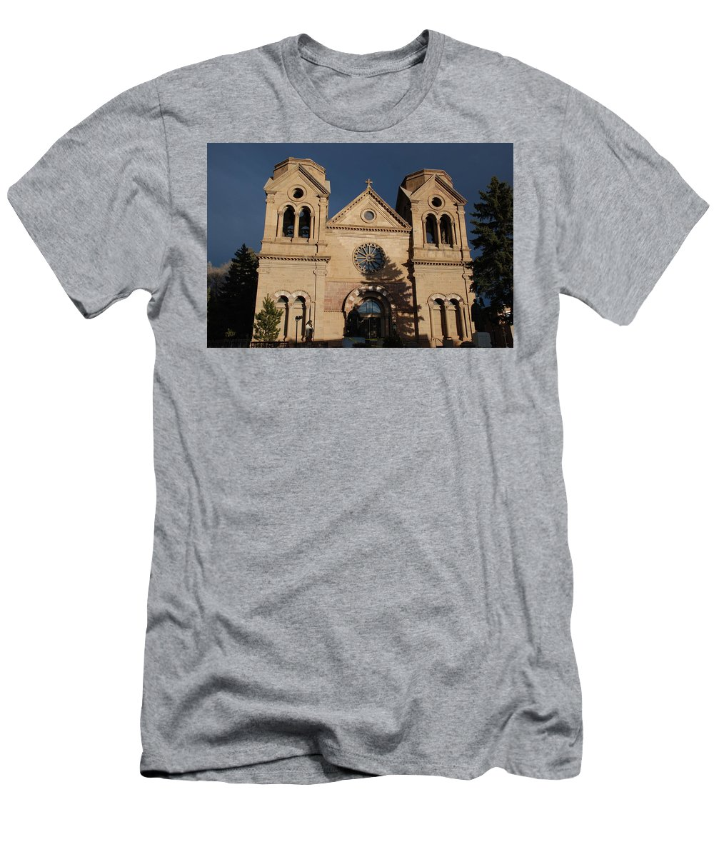 Architecture Men's T-Shirt (Athletic Fit) featuring the photograph Santa Fe Church by Rob Hans