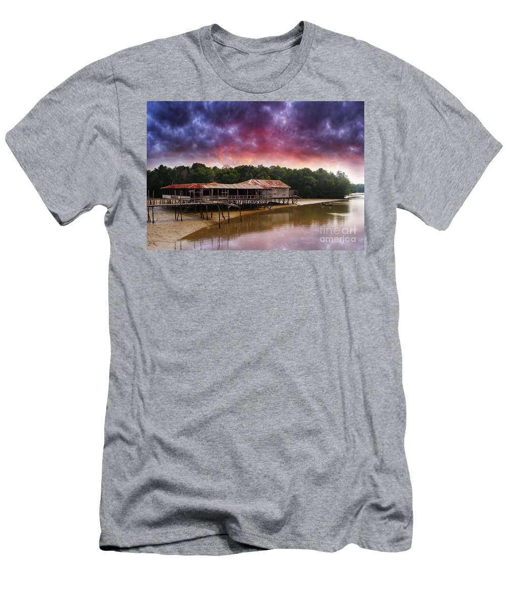 Scenic Men's T-Shirt (Athletic Fit) featuring the photograph Sc101 by Charuhas Images