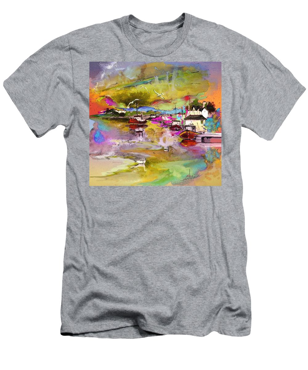 Scotland Paintings Men's T-Shirt (Athletic Fit) featuring the painting Scotland 13 by Miki De Goodaboom