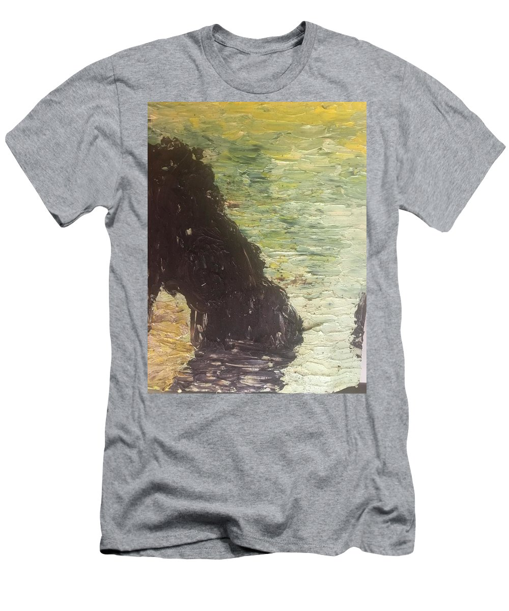 Ocean Men's T-Shirt (Athletic Fit) featuring the painting Sea Arch by Wendy Minkler