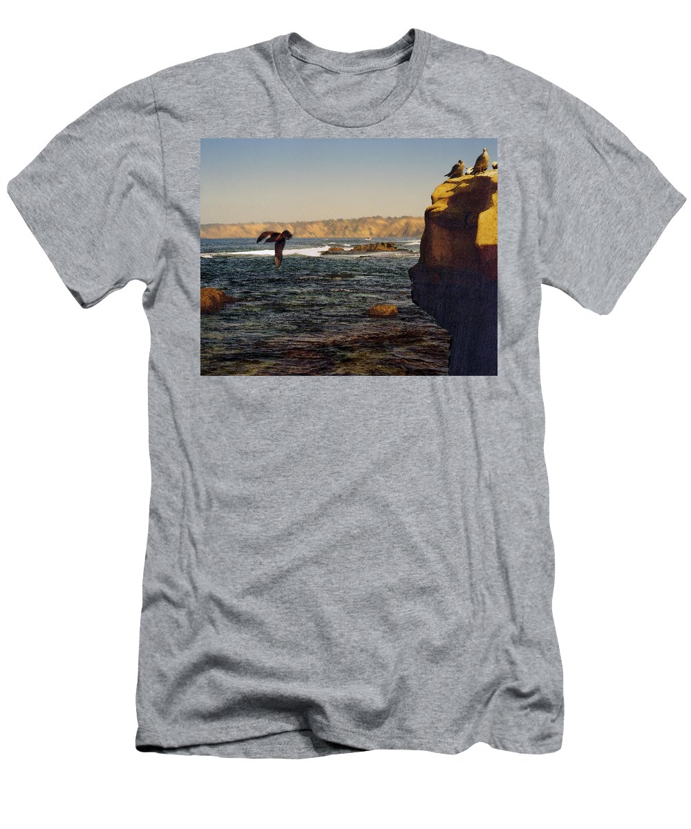 Ocean T-Shirt featuring the digital art Sea Cliff by Steve Karol