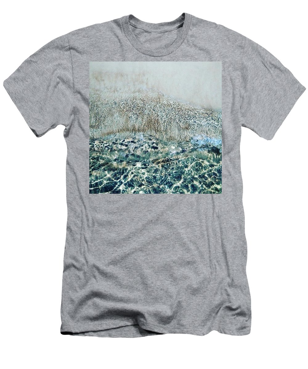 Sea Men's T-Shirt (Athletic Fit) featuring the photograph Sea Meets Sand by Nadezda Romanova